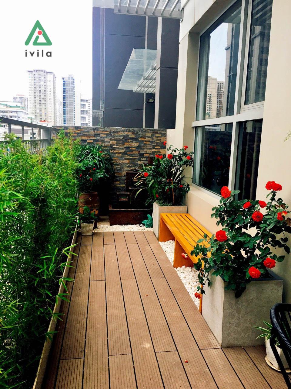 Ban công chị Hoa Gardenia